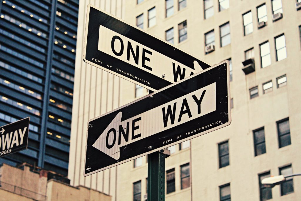 one way, stuck, anxiety, choice, behaviour